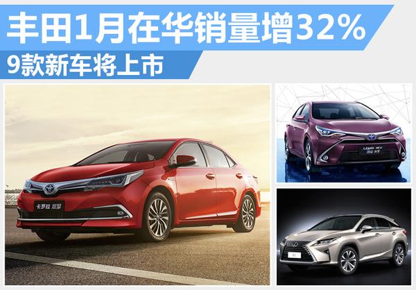 丰田1月在华销量猛增32% 新车根本停不下来(图1)
