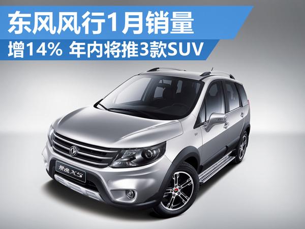 东风风行1月销量-增14% 年内将推出3款SUV!(图1)