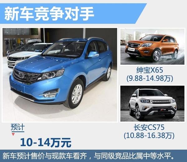 搭8速变速器的自主SUV改款来袭 预售10-14万(图6)