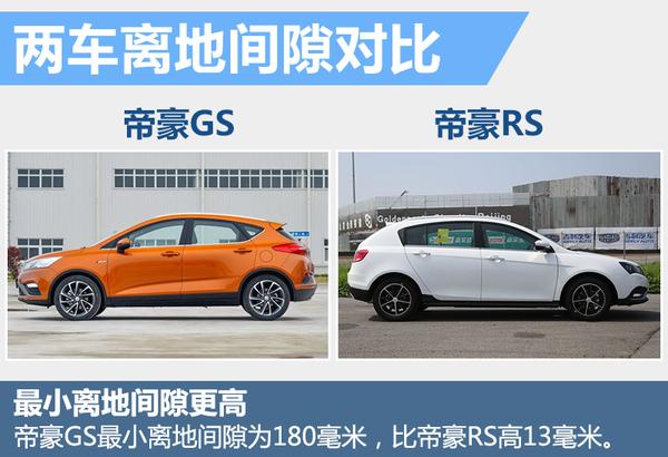 吉利帝豪GS RS对比 尺寸大增配置有提升