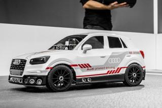 自己找车位 奥迪Q2自动驾驶模型车测试