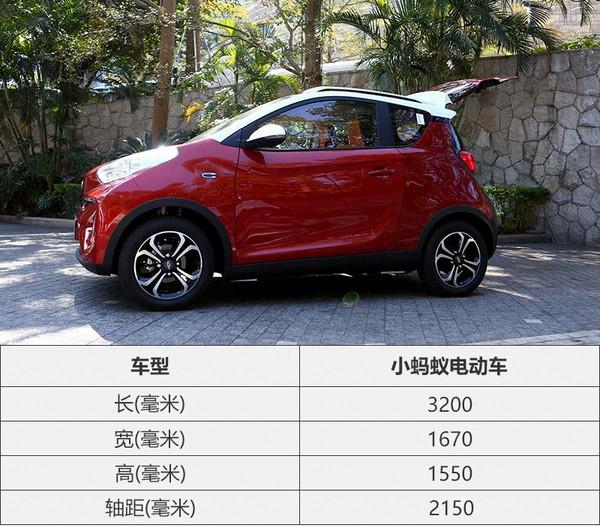 奇瑞小蚂蚁电动车正式上市 售4.98万起