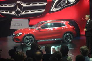 新款GLA换装前脸 车展奔驰发布多款新车