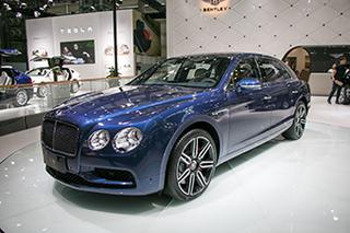 宾利飞驰V8 S Mulliner特别版车展亮相