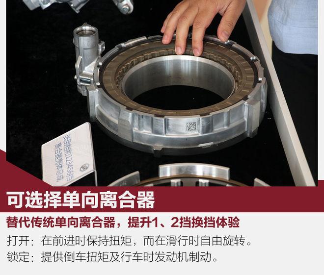这款9AT,是通用面向全球市场研发的,引入中国后只是针对法规方面进行了小幅调整。9速Hydra-Matic智能变速箱使用可选择单向离合器(Selectable One-way Clutch),通过5组行星齿轮机构搭配4个固定离合器以及3个旋转离合器实现9个前进挡位。结合用户日常使用的实际需求,其在齿比方面分布更加紧密合理,形成了7.6:1的齿比范围,1-9挡齿比间隔分别为:1.42、1.1、1.23、1.27、1.33、1.45、1.34和1.21,在低速时最大程度降低了换挡能耗和冲击,带来非常平顺的换挡体验。