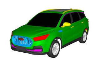 众泰将推全新7座SUV 采用非承载式车身