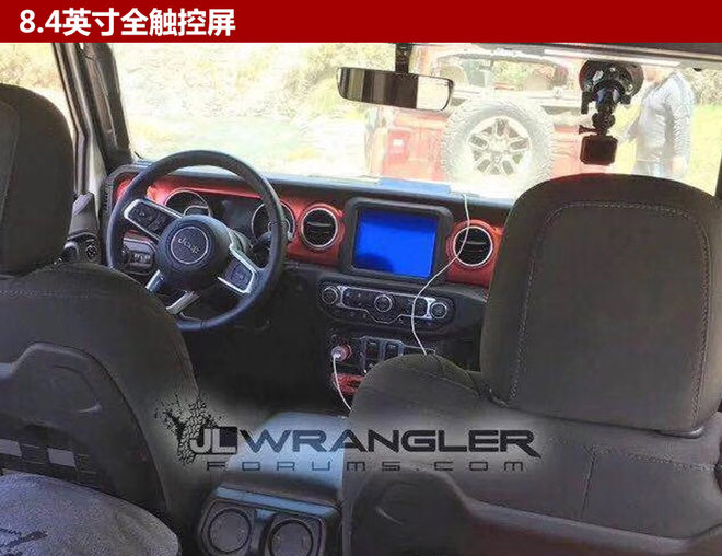 jeep全新牧马人内饰曝光 换装触控大屏_网易汽车