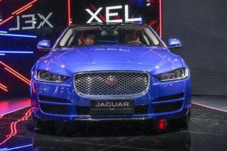 车展实拍捷豹XEL 宝马3系长轴的新对手
