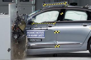 2018款沃尔沃S90碰撞成绩出炉 正面防护到位