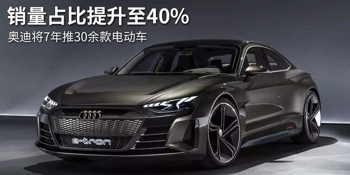 销量占比提升至40% 奥迪将7年推30余款电动车